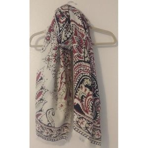 Large Lucky Brand Reversible Wool Blend Scarf
